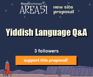 Stack Exchange Q&A site proposal: Yiddish Language