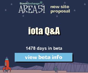 Stack Exchange Q&A site proposal: iota