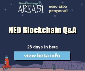 Stack Exchange Q&A site proposal: NEO Blockchain