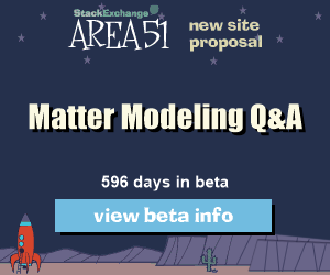 Stack Exchange Q&A site proposal: Materials Modeling