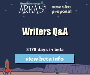 Stack Exchange Q&A site proposal: Writers