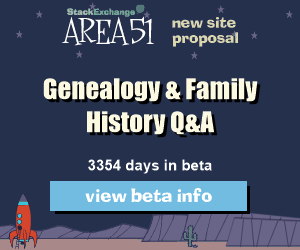 Stack Exchange Q&A site proposal: Genealogy & Family History