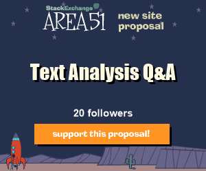 Stack Exchange Q&A site proposal: Text Analysis