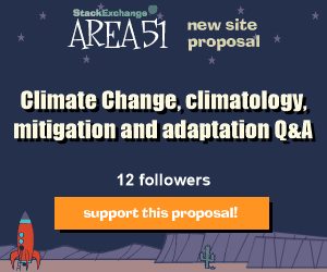 Stack Exchange Q&A site proposal: Climate Change, climatology, mitigation and adaptation