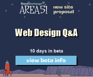 Stack Exchange Q&A site proposal: Web Design