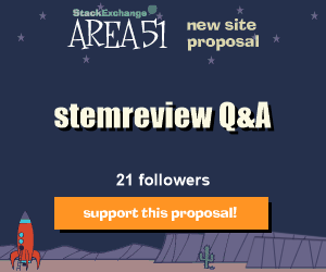 Stack Exchange Q&A site proposal: stemreview