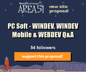 Stack Exchange Q&A site proposal: WinDev - PC Soft