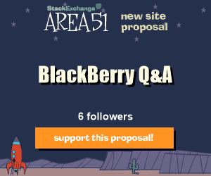 Stack Exchange Q&A site proposal: BlackBerryMobile Devices