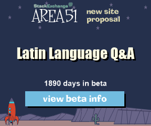 Stack Exchange Q&A site proposal: Latin Language