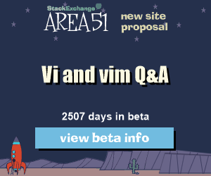 Stack Exchange Q&A site proposal: Vi and vim