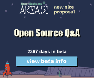 Stack Exchange Q&A site proposal: Open Source