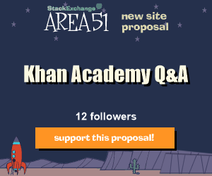 Stack Exchange Q&A site proposal: Khan Academy