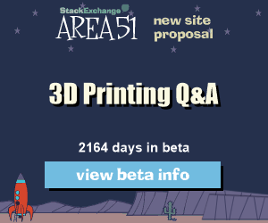 Stack Exchange Q&A site proposal: 3D Printing