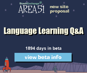 Stack Exchange Q&A site proposal: Language Learning
